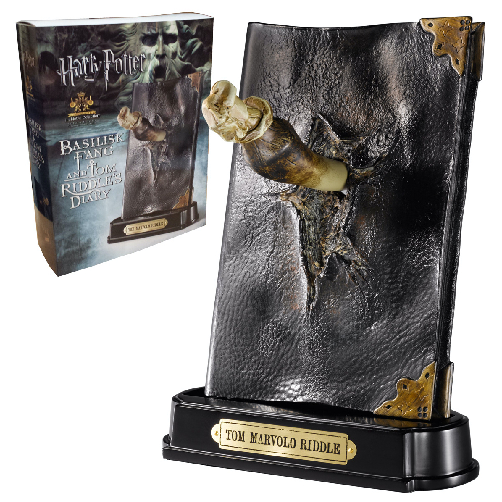 Basilisk Fang and Tom Riddle Diary Sculpture